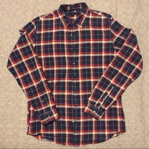 J Crew plaid button down shirt